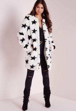 faux-fur-star-print-coat-white
